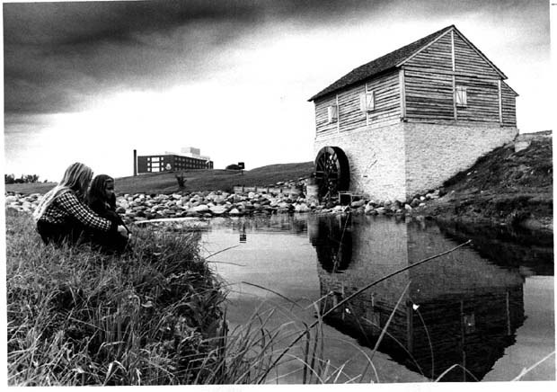 Storing away some future memories at Grant's Mill, Sturgeon Creek. (Winnipeg Tribune Photo Collection)