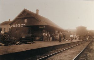 Port Coldwell Station in its (and Edward's) heyday.                          CPR Staff dormitory to the rear, left.